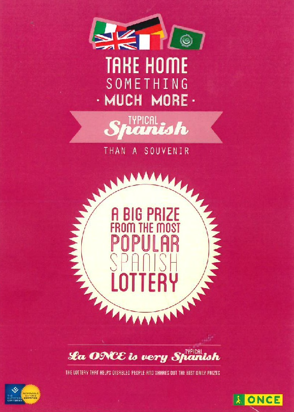 Spanish Lottery – O N C E  – Mar Menor Golf Resort Owners
